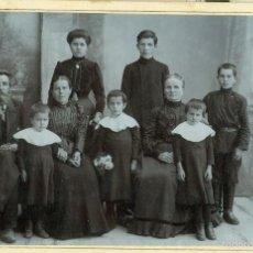 Fotografía antigua - FAMILIA RUSA. HACIA 1900. TIPO CABINET. - 56693093