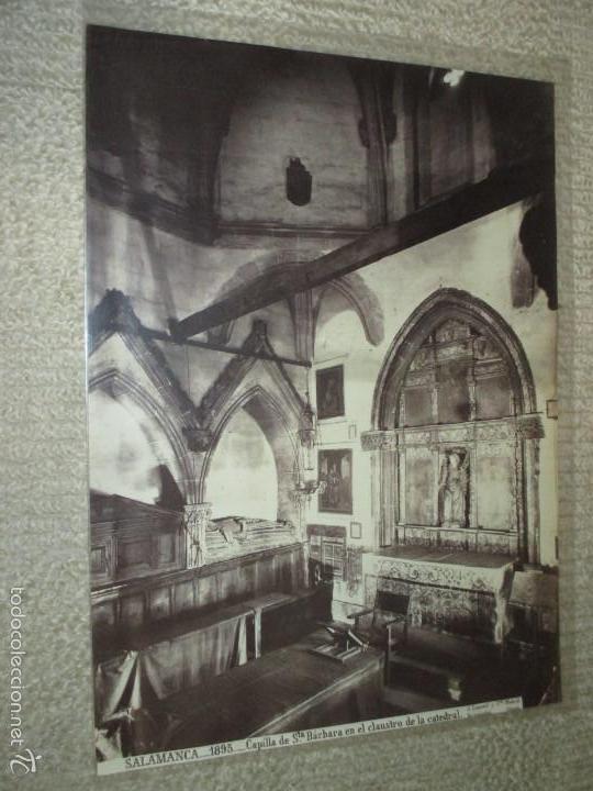 SALAMANCA Nº 1895. CAPILLA DE STA. BÁRBARA EN EL CLAUSTRO DE LA CATEDRAL. J. LAURENT. CIRCA 1870 (Fotografía Antigua - Albúmina)