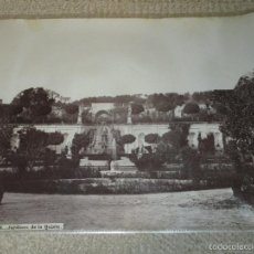 Fotografía antigua: EL PARDO Nº 105. JARDINES DE LA QUINTA. J. LAURENT, MADRID, CIRCA 1870,. Lote 56805260