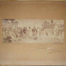 Fotografía antigua: FOTOGRAFÍA DE J. LAURENT DE PINTURA MURAL DE JOSÉ NIN Y TUDÓ. PALACIO DE ANGLADA. CARLOS IV. Lote 56879252