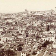 Fotografía antigua: GRANADA EL ALBAICÍN. VISTA TOMADA DESDE LA ALHAMBRA.. Lote 56944533