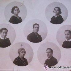 Fotografía antigua: FOTOMONTAJE DE GRUPO FAMILIAR . FOTO : GARAY , LOGROÑO , 1920 .. 21 X 25 CM. Lote 56968448