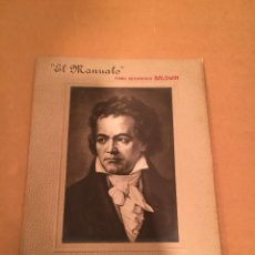 Fotografía antigua: FOTOGRAFÍA ANTIGUA - BEETHOVEN - PORTARRETRATOS PUBLICIDAD - PIANO - BALDWIN - KLINGER - CASA CAMPOS. Lote 57255360