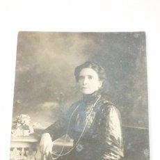 Fotografía antigua: ANTIGUA FOTO ALBÚMINA. DAMA DE ÉPOCA. ESTUDIO F. GAUSÍ. BARCELONA. ORIGINAL. AÑOS 1900S. Lote 57430146