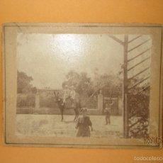Fotografía antigua: ANTIGUA FOTOGRAFIA NIÑOS EN BURRO TOMADA EN VILLANUEVA DEL GRAO DE VALENCIA. Lote 57807675