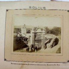 Fotografía antigua: LA-16. SOLIUS. CASA FAMILIA VICENS. FINALIZACION DE LAS OBRAS. MAYO DE 1883. J. BERTRAN FOTOGRAFO.. Lote 57886262