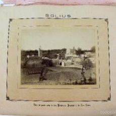 Fotografía antigua: LA-14. SOLIUS. VISTA CASA PAIRAL FAMILIA VICENS, DESDE RIERA MARDANSANS.AÑO 1883.. Lote 57886408