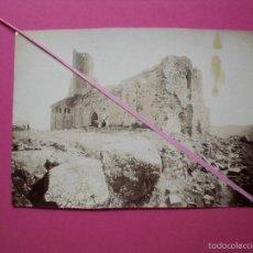 Fotografía antigua: FOTOGRAFÍA MUY ANTIGUA AÑOS 20 PONTS LÉRIDA LLEIDA SAN PEDRO IGLESIA ROMÁNICA EN RUINAS ALBUMINA. Lote 57889321