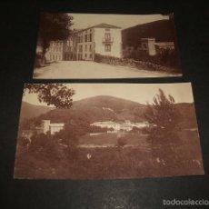 Fotografía antigua: PUENTE VIESGO CANTABRIA 2 FOTOGRAFIAS ALBUMINA FINALES SIGLO XIX 6 X 11 CMTS. Lote 57981341