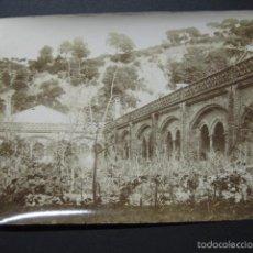 Fotografía antigua: TIANA -CARTUJA MONTEALEGRE -FOTOGRAFIA ANTIGUA-VER REVERSO- MIDE 12 X 16 CM - (V-6337). Lote 57996002