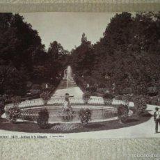 Fotografía antigua: ALAMEDA DE OSUNA, MADRID Nº 1459. JARDINES DE LA ALAMEDA. J. LAURENT 33X24,5 CMS.. Lote 58115934