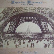 Fotografía antigua: AÑO 1889 PARIS 12 ALBUMINAS EXPOSICION UNIVERSAL DE PARIS * TORRE EIFFEL BOULEVARES OPERA 19X12 CM. Lote 58131845