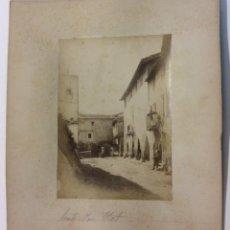 Fotografía antigua: SANTA PAU. PLAZA. OLOT. ALBÚMINA SOBRE CARTÓN.. Lote 58243691
