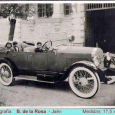 Fotografía antigua: APR.1920.- FOTO ORIGINAL DE AUTOMOVIL MATRÍCULA J-568 (PRIMEROS EN JAÉN) S/CARTON. FDO. B.DE LA ROSA. Lote 58334734