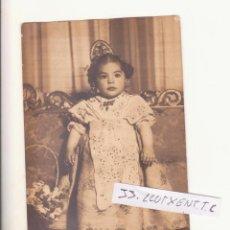 Fotografía antigua: BONITA FOTO NIÑA FALLERA VALENCIA FECHADA EN 1947. Lote 58344280