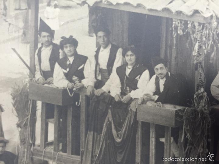 Fotografía antigua: foto albumina falla carroza asturias horreo horchateria a. martinez calle valencia 16x22,5cm - Foto 7 - 58581575