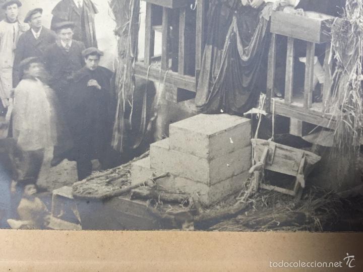 Fotografía antigua: foto albumina falla carroza asturias horreo horchateria a. martinez calle valencia 16x22,5cm - Foto 9 - 58581575