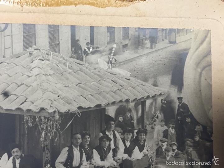 Fotografía antigua: foto albumina falla carroza asturias horreo horchateria a. martinez calle valencia 16x22,5cm - Foto 11 - 58581575