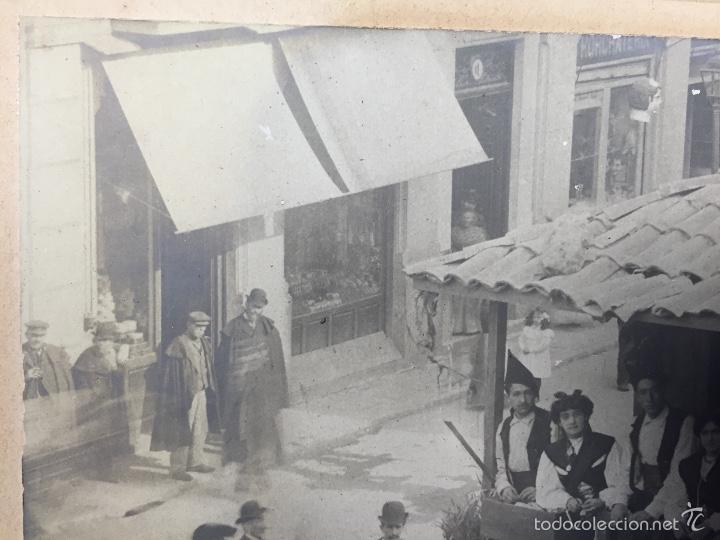 Fotografía antigua: foto albumina falla carroza asturias horreo horchateria a. martinez calle valencia 16x22,5cm - Foto 12 - 58581575