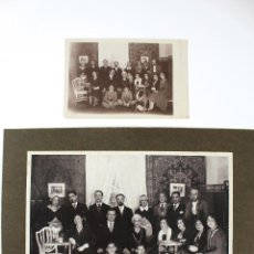 Fotografía antigua: FG-217. FOTOGRAFIA DE ACTORES AMATEURS DESPUES DE LA FUNCION. AÑO 1932. COMPANYIA SIM. Lote 58624401