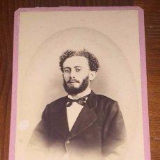 Fotografía antigua: FOTOGRAFIA ALBUMINA TIPO CDV, FOTO NARCISO MESTRE, HABANA, CUBA, ESCRITA POR EL REVERSO EN 1873, MID. Lote 58678394