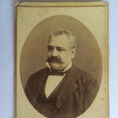 Fotografía antigua: ANTIGUA FOTOGRAFIA CARTON - CABALLERO POSANDO, FOTOGRAFO J. OSES - MALAGA, MEDIDAS 10,5 X 16 CM. Lote 59493767