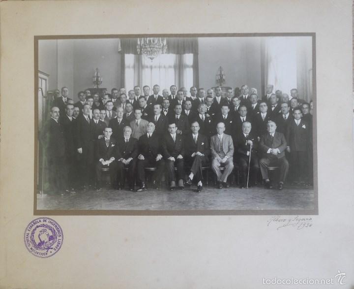 ASOCIACIÓN GENERAL ESPAÑOLA DE INGENIEROS LIBRES, 1930 ALBERO Y SEGOVIA, 30 X25 APROX (Fotografía Antigua - Albúmina)