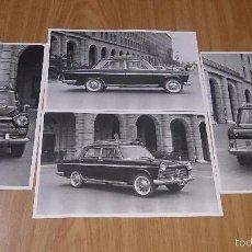 Fotografía antigua: LOTE DE 4 FOTOS DE SEAT 1500 VALENCIA - TAMAÑO CUARTILLA. Lote 59870648
