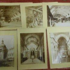 Fotografía antigua: 6 FOTOGRAFIA ALBUMINAS SIGLO XIX DE EL ESCORIAL MADRID. Lote 60227283