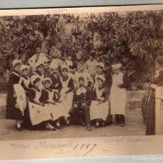Fotografía antigua: FOTO ANGEL GUIMERA, JOAN MARAGALL. 1889. FAM. PITXOT Y GIRONÉS. Lote 61793812