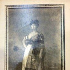 Fotografía antigua: LAURENT, 508. GOYA. PORTRAIT DE LA TIRANA, CELEBRE ACTRICE, 25X33 CMS, ESPECTACULAR. Lote 62088220