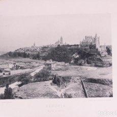 Fotografía antigua: SEGOVIA. VISTA GENERAL. 1892. AUTORES: HAUSER Y MEDE.DIMENSIONES: 30 CM. POR 23'5 CM.. Lote 62251484