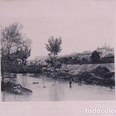 Fotografía antigua: MADRID. VISTA DESDE SAN ISIDRO. 1892. AUTORES: HAUSER Y MEDE. LDIMENSIONES: 30 CM. POR 23'5 CM.. Lote 62251744