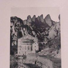 Fotografía antigua: MONSERRAT. EL MONASTERIO. 1892. AUTORES: HAUSER Y MEDEL. DIMENSIONES: 30 CM. . POR 23'5 CM.. Lote 62252448