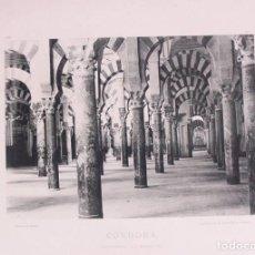 Fotografía antigua: CÓRDOBA. CATEDRAL, LA MEZQUITA. 1892. AUTORES: HAUSER Y MEDEL. DIMENSIONES: 30 CM. POR 23'5 CM.. Lote 62253324