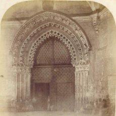 Fotografía antigua: BILBAO .1860. PÓRTICO LATERAL DE LA CATEDRAL DE SANTIAGO DE BILBAO.. Lote 62259080