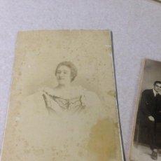 Fotografía antigua: ANTIGUA FOTOGRAFIA ALBUMINA OLIVARES CARTAGENA MURCIA. Lote 62330080