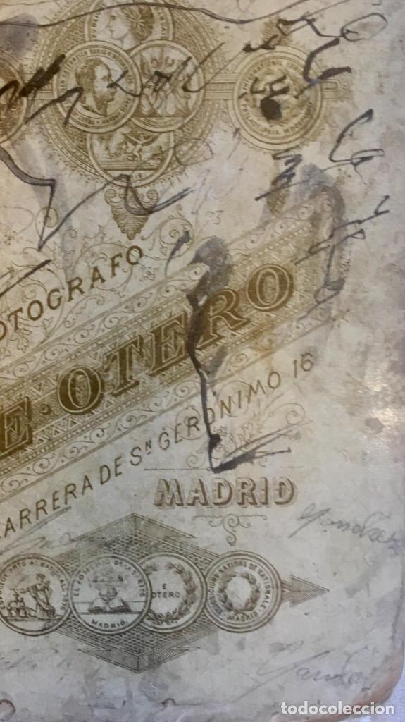 Fotografía antigua: Otero fotografia a doña Francisca Sanz de Puerta madrid retrato posando abanico - Foto 8 - 62366160