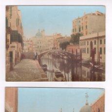 Fotografía antigua - VENECIA, 1870'S. 2 ALBÚMINAS ILUMINADAS 13,5X17,5 CM. - 62512136