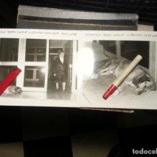 Fotografía antigua: 2 ANTIGUAS FOTOGRAFIAS DEL PERRO MAS FAMOSO DE CADIZ CANELO A LAS PUERTA DE RESIDENCIA ESPERANDO AMO. Lote 62565316