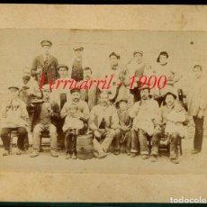 Fotografía antigua: FERROCARRIL - TRABAJADORES - MADRID - 1900. Lote 62633616