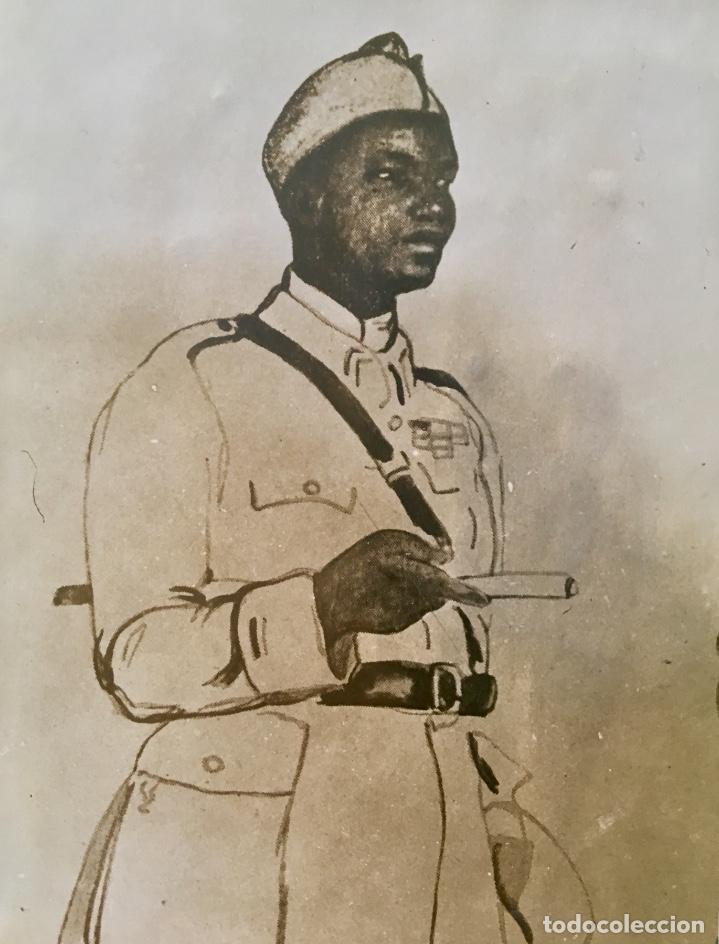 Fotografía antigua: albumina soldado coronel senegales en uniforme SXIX 9x14 - Foto 2 - 62953016