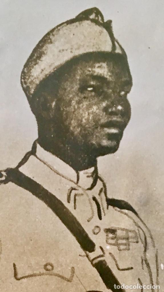 Fotografía antigua: albumina soldado coronel senegales en uniforme SXIX 9x14 - Foto 5 - 62953016