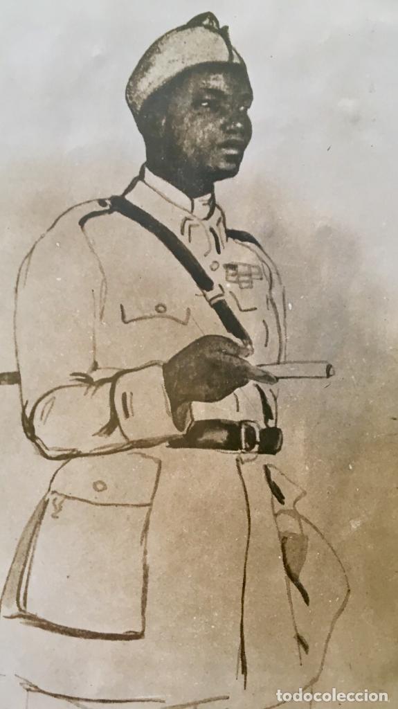 Fotografía antigua: albumina soldado coronel senegales en uniforme SXIX 9x14 - Foto 6 - 62953016
