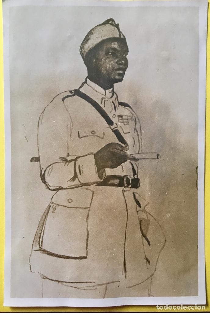 Fotografía antigua: albumina soldado coronel senegales en uniforme SXIX 9x14 - Foto 7 - 62953016