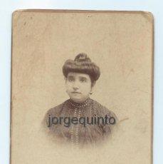 Fotografía antigua: RETRATO FEMENINO. FOTÓGRAFOS HARO HERMANOS. CARMEN, 62. CARTAGENA, MURCIA.. Lote 64319851
