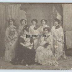 Fotografía antigua: RETRATO MÚLTIPLE DE ESTUDIO. GRUPO FEMENINO. FOTÓGRAFO DESCONOCIDO. PRINCIPIOS SIGLO XX.. Lote 64702691