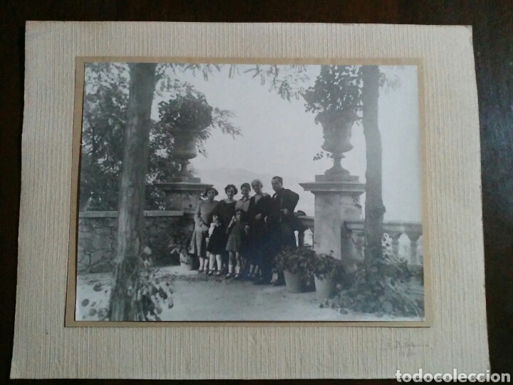 FOTOGRAFÍA ALBÚMINA SOBRE CARTÓN FECHADO MANUSCRITO: E. AÑO 1926. MUY GRANDE (Fotografía Antigua - Albúmina)