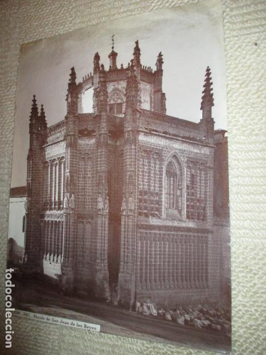 TOLEDO. 561. ABSIDE DE SAN JUAN DE LOS REYES. J. LAURENT, MADRID. ALBÚMINA SIN MONTAR (Fotografía Antigua - Albúmina)
