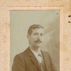 Fotografía antigua: FOTO RETRATO DE CABALLERO ANDALUZ POSANDO. CA.1900-1905. FOT. BENJAMIN ALCAZAR. JAÉN.. Lote 66920214